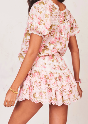 loveshackfancy emilia eyelet floral mini skirt brookie