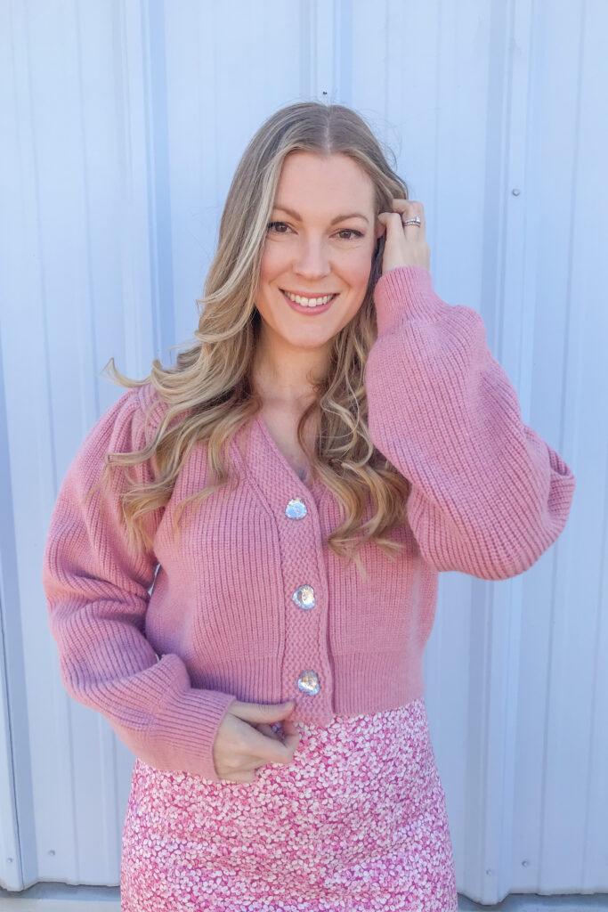 Pink Floral Dress 4