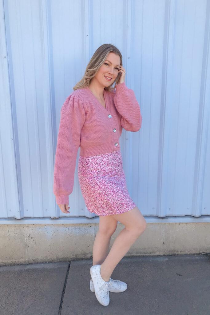 Pink Floral Dress 6
