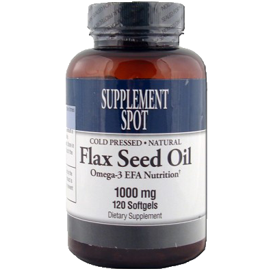 Flax Seed Oil 1000 mg 120 Softgels