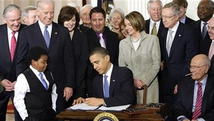 Health insurance gains due to Obama's law, not economy