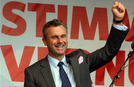 First results show right-winger ahead in Austrian election