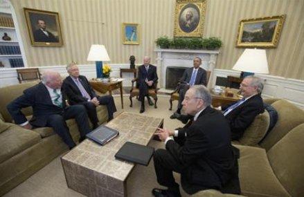 Obama, Hill leaders meet ahead of federal funding deadline