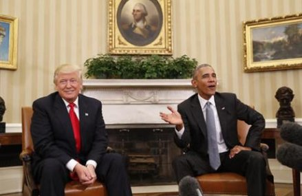'Excellent' first meeting for Obama, Trump