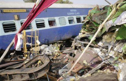 115 dead as train derails in north India; some still trapped