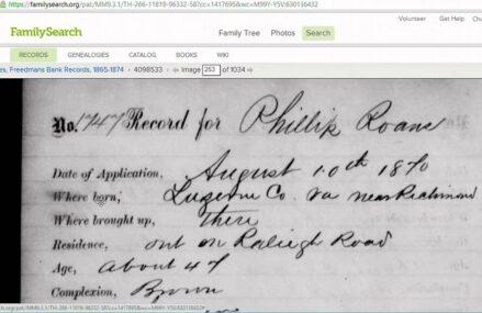 Genealogy Adventures – Freedman's Bank Records