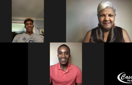 Dr. Marj  Interviews Andrew Robinson, and Joshua Nelson, Co-Valedictorian,  Salutatorian.
