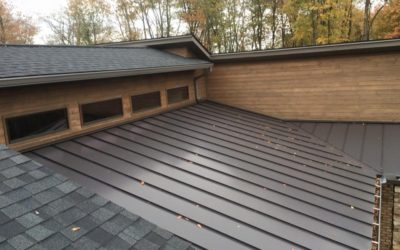 Dark bronze painted steel roof on a Washington County home