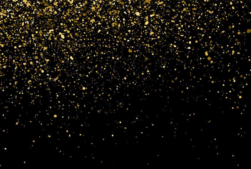 Gold Glitter on Black Backdrop