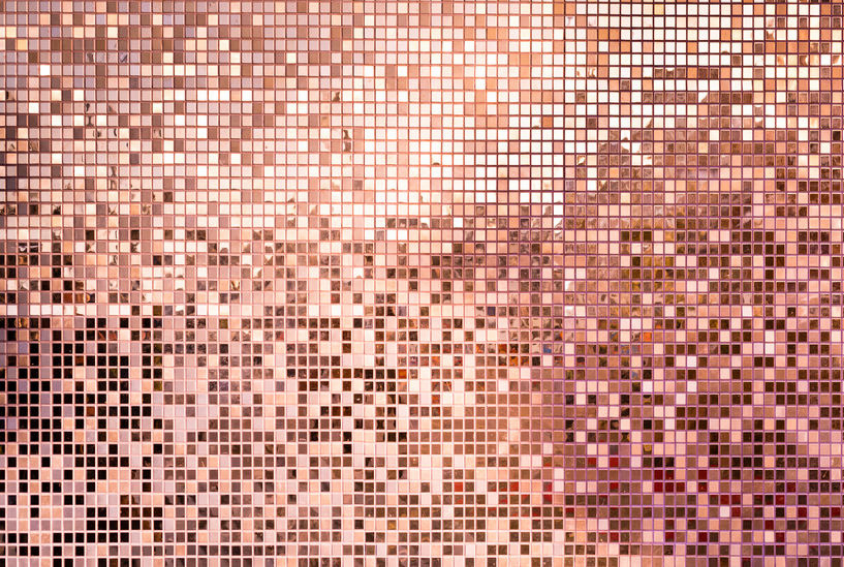 Rose Gold 3D Mosaic Backdrop