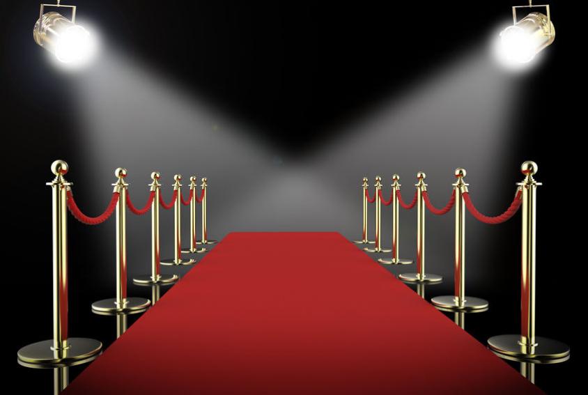 Red Carpet Spotlight Backdrop