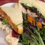 Roasted Turkey sandwich with a cranberry horseradish relish