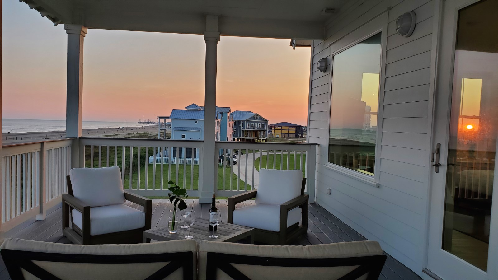 Sunsets on the covered upper deck