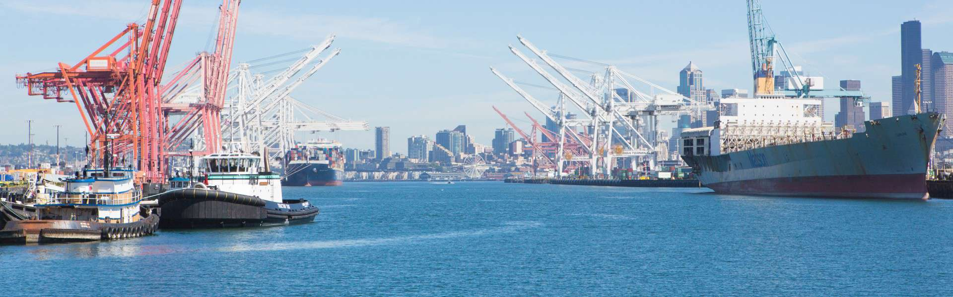 The commercial harbor of Seattle; Moure Law are experts in Maritime Law.
