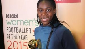 BBC Women's Footballer of the Year award: Asisat Oshoala wins