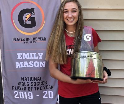 ECNL rockstar & Rutgers commit Emily Mason is the 2020 2019-20 Gatorade National Girls Soccer Player of the Year