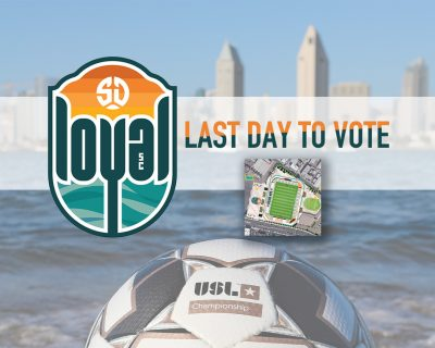 Attention SD Loyal fans: Today is your last day to vote for the stadium project
