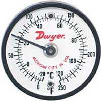 Ohio Valley Industrial Services- Dwyer Instruments- Level, Temperature, Flow, and Pressure Instrumentation- Series ST Surface Mount Thermometer