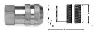 Ohio Valley Industrial Services- Quick Coupling Division- Non-Spill Female Pipe Thread