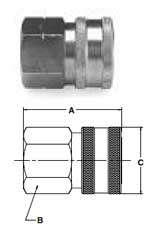 Ohio Valley Industrial Services- Parker Quick Coupling Division- High Flow Female Pipe Thread