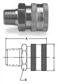Ohio Valley Industrial Services- Parker Quick Coupling Division- High Flow Male Pipe Thread