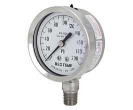 Ohio Valley Industrial Services- Temperature and Pressure Instrumentation- Heavy Duty Repairable Stainless Pressure Gauge