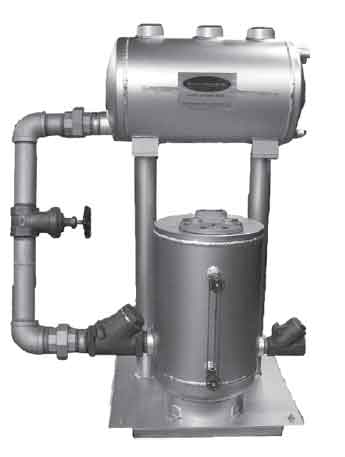 Ohio Valley Industrial Services- Pressure Operated Condensate Return Pumps- Single Compression Spring Pressure Operated Pump