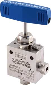 Ohio Valley Industrial Services- High Pressure Instrumentation- Parker Autoclave Engineers- High Pressure Needle Valves