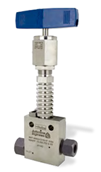 """Ohio Valley Industrial Services- High Pressure Instrumentation- Parker Autoclave Engineers- MAN Series Needle Valve Extreme Temperature shown with """"-VT"""" (Vent) option"""