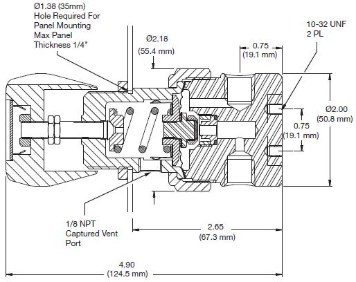 Ohio Valley Industrial Services- Coalescing Filters, Regulators, and Lubricators- ABP1 Series Back Pressure Regulator Drawing
