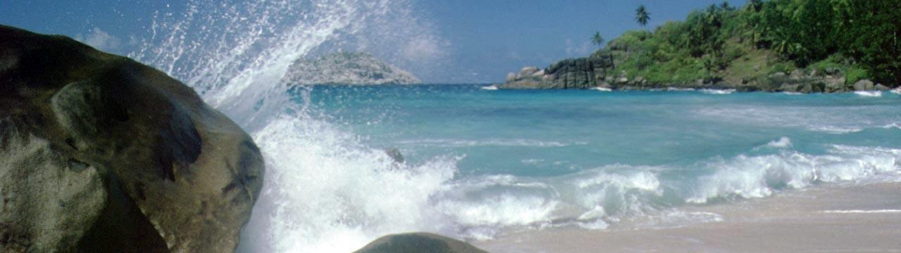 Ocean waves breaking on the beach
