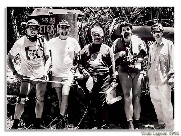 1990 Truk - film crew - Kimiuo Aisek