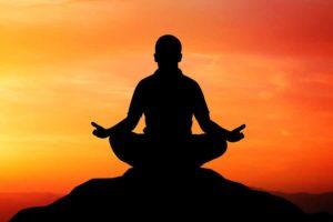 Silhouette of Yoga Pose