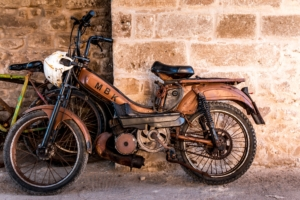 salvaging a motorcycle