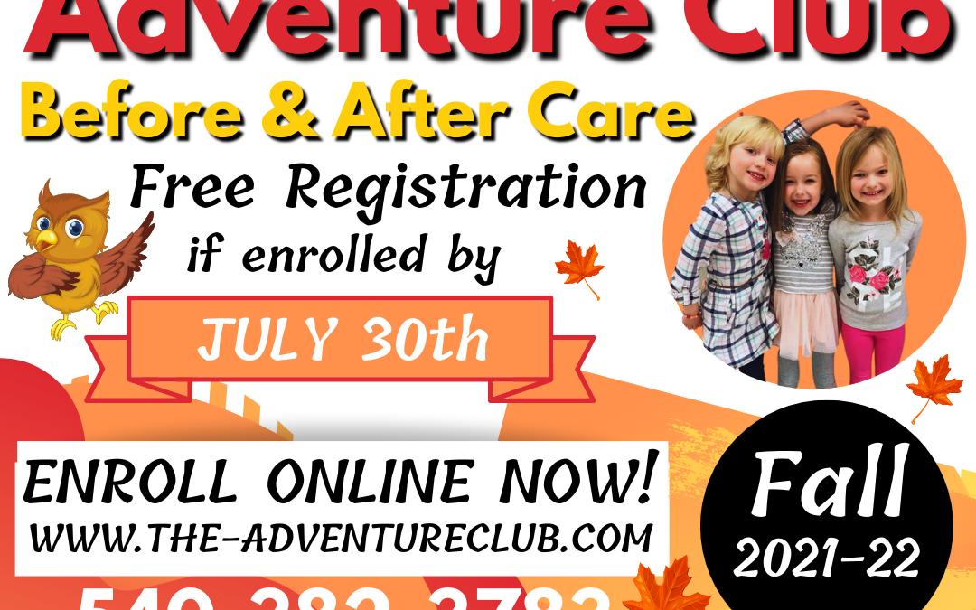 Fall 2021-22 Enrollment Open!