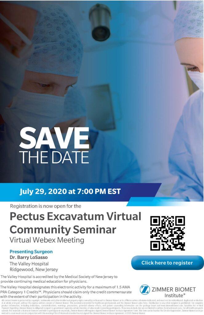FREE Pectus Community Seminar LoSasso 07.29.20