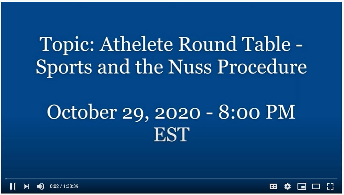 Nuss Procedure & Athletics (Athlete Round Table Q&A) – Webinar Recording #4