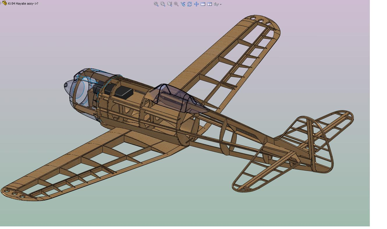 5.  Model ready to go to the laser cutter.