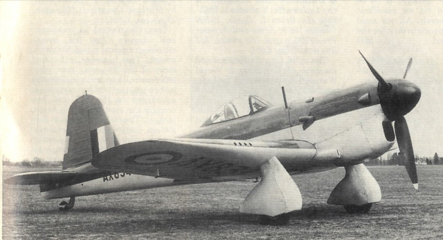 The initial prototype built for the RAF.