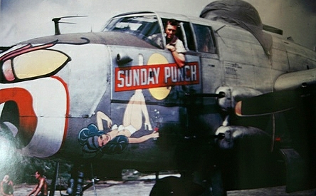 Her fright mask was a trademark of the 81st Bomb Squadron.