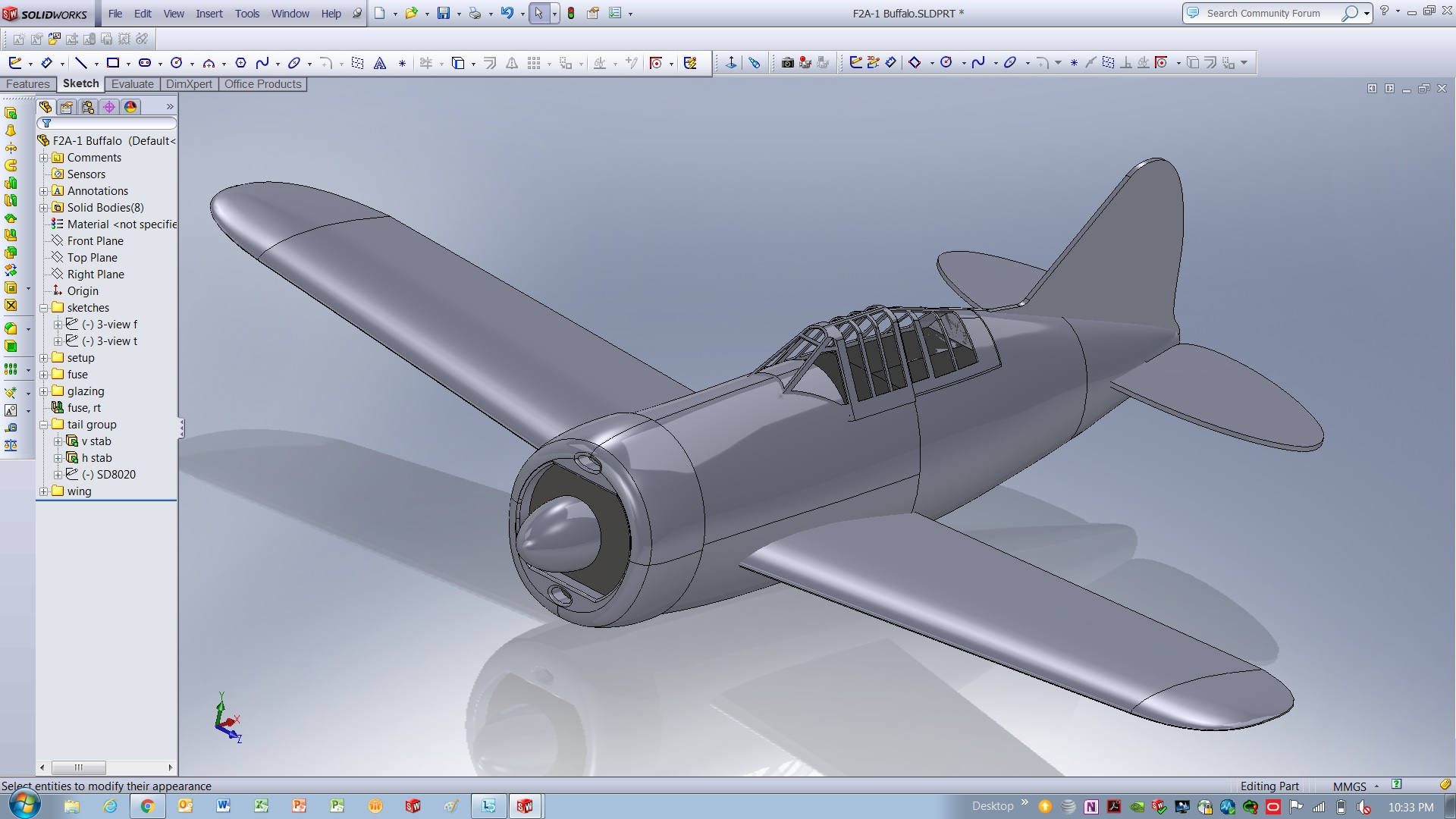 A SolidWorks CAD Buffalo fresh off of the assembly line.