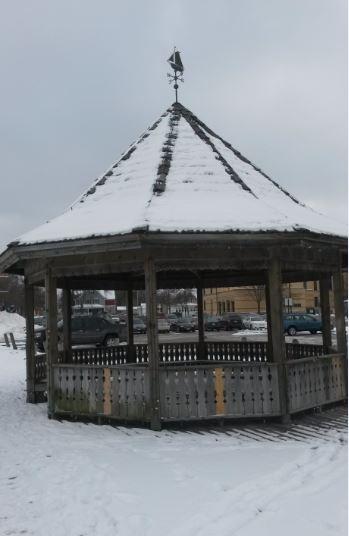 snow gazebo