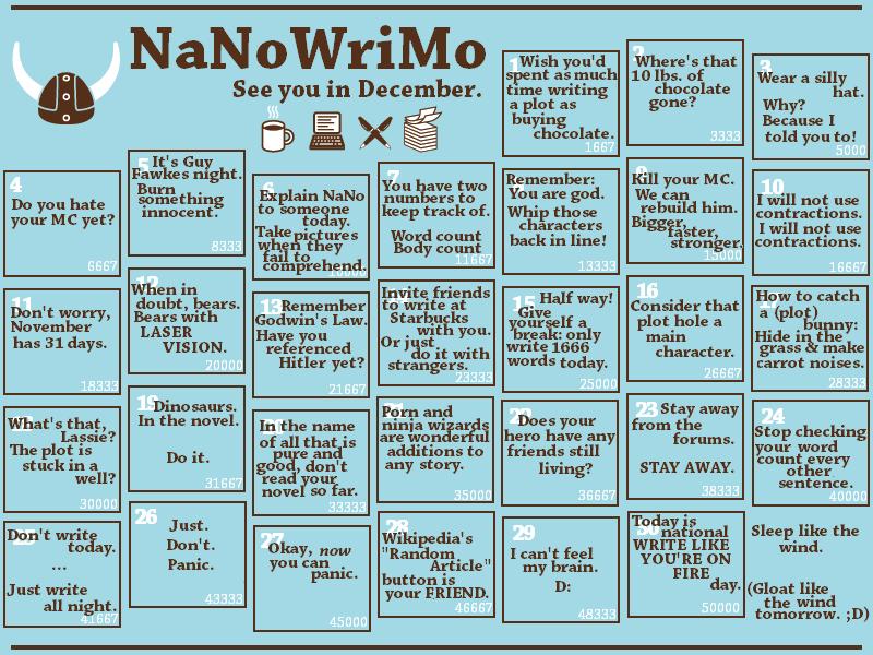 NaNoWriMo Check In