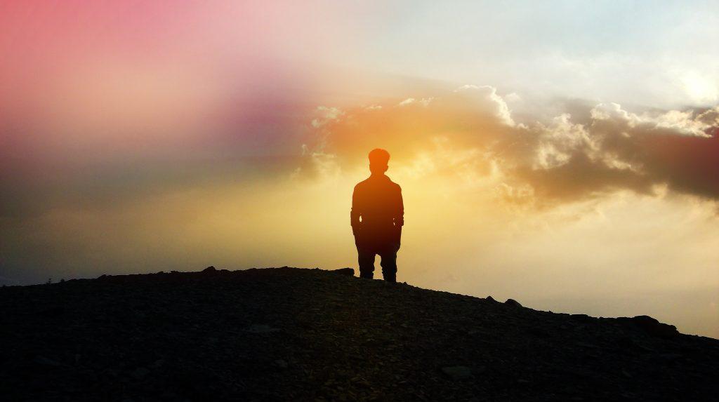 guy man sunset sun silhouette
