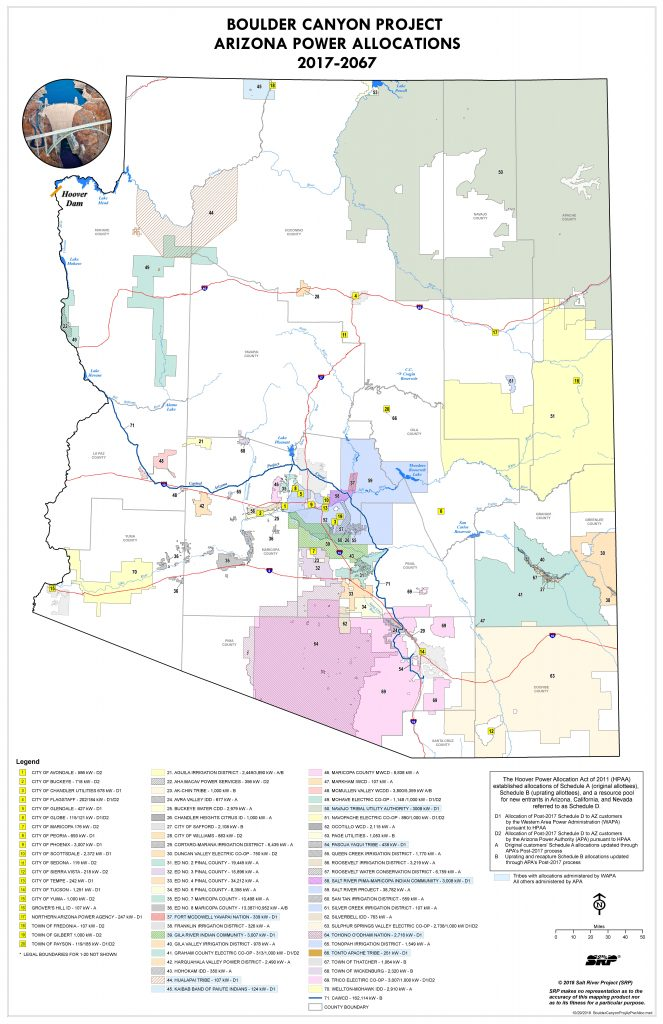 BCP Arizona Power Allocations Map 01.22.19