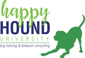 Happy Hound Univeristy - Logo Full - TEAL PUP
