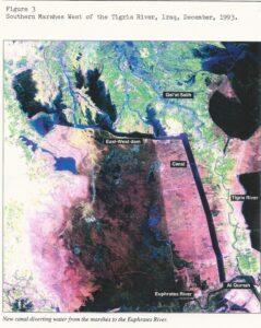 أهوار العراق 1993 بعد التجفيف، ستلايت