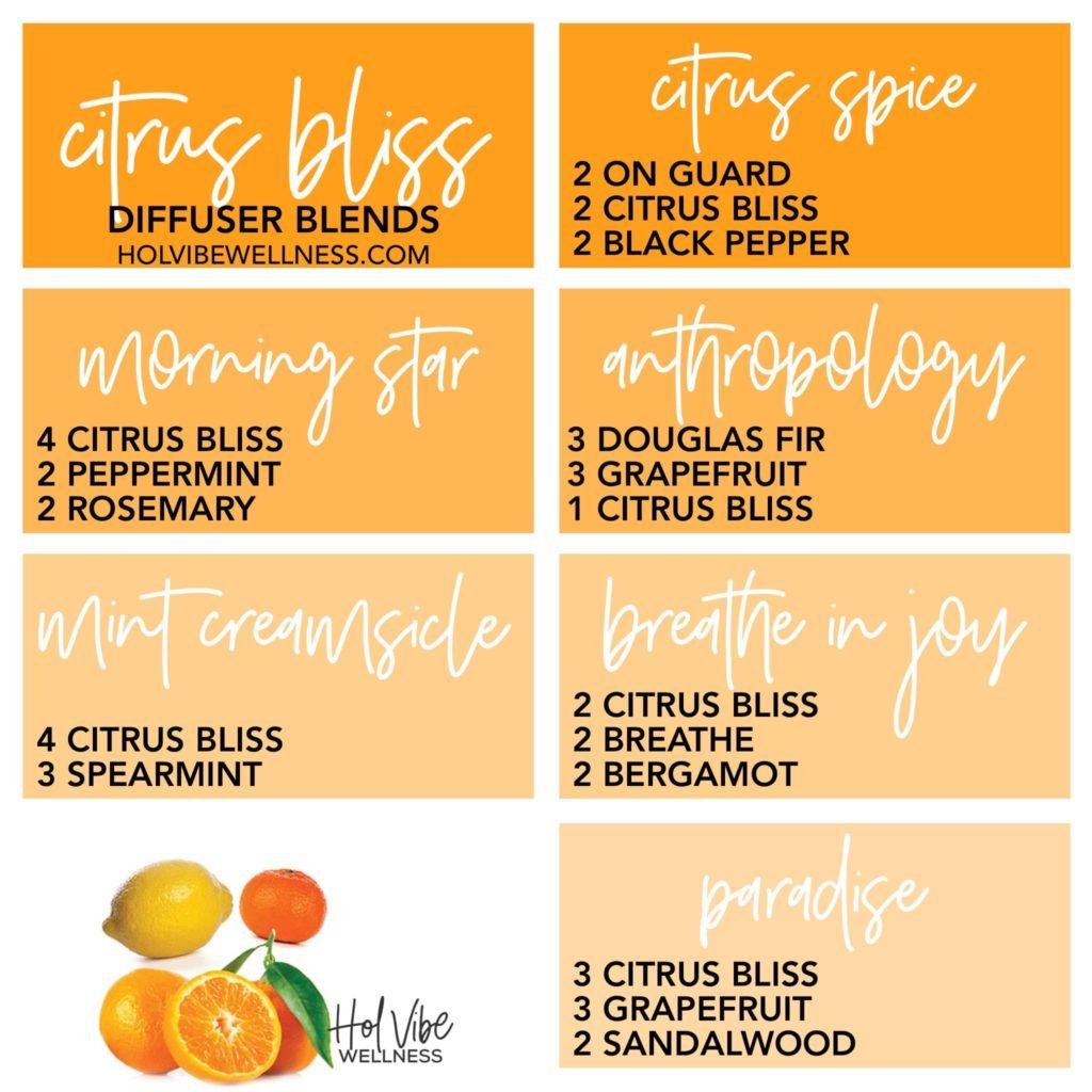citrus bliss, on guard, black pepper, peppermint, rosemary, Douglas fir, grapefruit, spearmint, breathe, bergamot, Hawaiian sandalwood