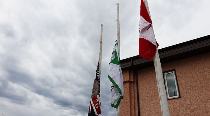 LLRIB Building lowers flags half-mast in honour of the 215 Children whose remains were found in BC