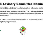 LLRIB Advisory Committee Candidates